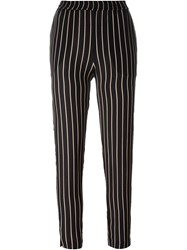 Won Hundred Striped Trousers Black