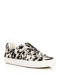 10 Crosby Derek Lam Slip On Sneakers Laurel Calf Hair Natural Cheetah