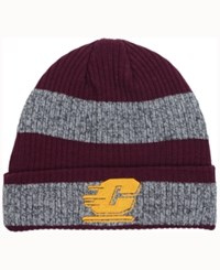 Adidas Central Michigan Chippewas Player Watch Knit Hat Maroon Heather Gray