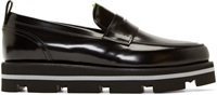 Msgm Black Accent Loafers
