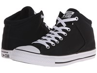 Converse Chuck Taylor All Star Hi Street Canvas Black Black White Men's Lace Up Casual Shoes