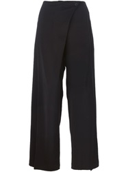 Lost And Found Wide Leg Trousers Black
