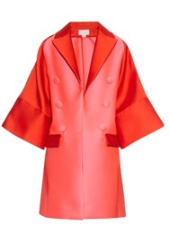 Antonio Berardi Bi Colour Satin Evening Coat Red Multi
