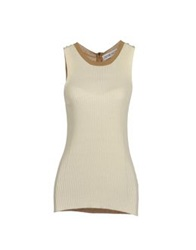 Couture Du Cuir Sleeveless Sweaters Light Grey