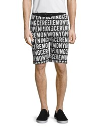 Opening Ceremony Logo Sweat Short Black Multi