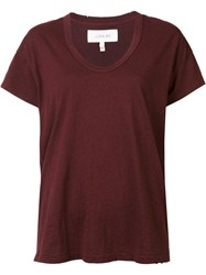 The Great Scoop Neck T Shirt Red