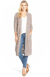 Women's Caslon 'Thick Thin' Long Open Front Cardigan