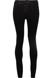 Rag And Bone Lace Up High Rise Skinny Jeans Black