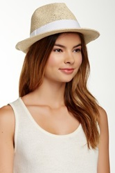 Free Press Banded Paper Fedora White