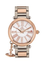 Vivienne Westwood Mother Orb Silver And Rose Gold Tone Watch