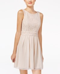 Speechless Juniors' Glitter Lace Party Dress A Macy's Exclusive Blush