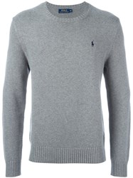Polo Ralph Lauren Logo Embroidered Sweater Grey