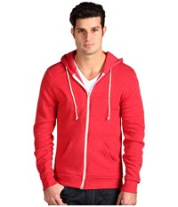 Alternative Apparel Rocky Zip Hoodie Eco True Red Men's Sweatshirt Pink