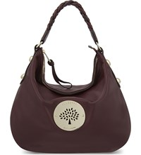 Mulberry Daria Medium Leather Hobo Bag Oxblood