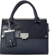 Dune Dinidonovan Faux Leather Flap Over Bag Navy Plain Synthetic