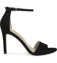 Aldo Fiolla Suede Heeled Sandals Black Suede