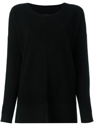 By Malene Birger Scoop Neck Jumper Black