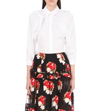 Simone Rocha Frilled Cotton Shirt White