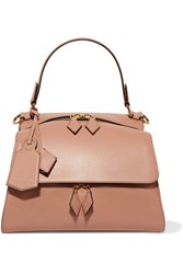 Victoria Beckham Full Moon Small Leather Tote Neutral