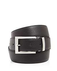 Tumi Pebbled Harness Reversible Belt Nickel Satin
