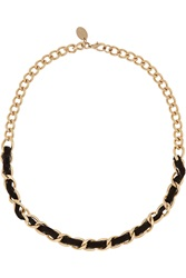 Red Valentino Gold Tone And Velvet Necklace
