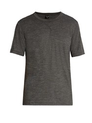 Adidas By Day One Crew Neck Wool Blend T Shirt Charcoal