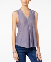 Armani Exchange Sleeveless V Neck Top Solid Bright