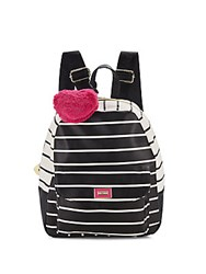 Betsey Johnson Zip Around Striped Backpack