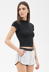 Forever 21 Boucle And Faux Leather Shorts