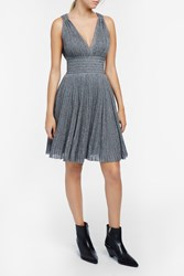 Missoni Lame Mini Dress Silver