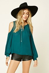 Forever 21 Woven Open Shoulder Top
