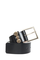 Paul And Joe Rivet Leather Belt Black