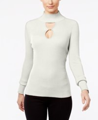 Inc International Concepts Keyhole Sweater Only At Macy's Washed White