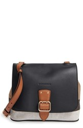 Burberry 'Small Shellwood' Canvas And Leather Crossbody Bag Black