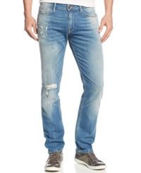 Guess Distressed Slim Straight Jeans Valley View Wash