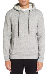 Michael Stars Men's Heathered Hoodie Heather Grey