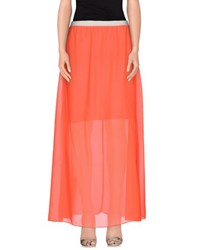 White Skirts Long Skirts Women Coral