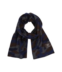 Ugg Camo Scarf Navy Multi Scarves Blue