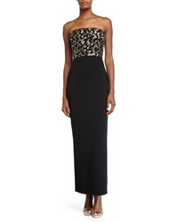 Strapless Embellished Bodice Gown Black Jenny Packham