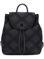Tory Burch 'Flame Quilt' Mini Backpack Black