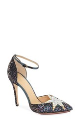 Charlotte Olympia Women's 'Twilight Princess' Pump Dark Blue Glitter