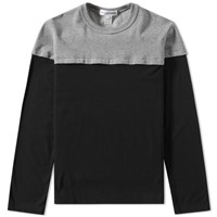 Comme Des Garcons Shirt Insert Crew Sweat Black