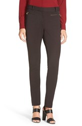Women's Pink Tartan Stretch Moto Pants