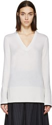 Rag And Bone Ivory V Neck Flavia Sweater