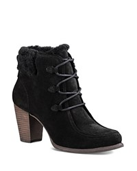 Ugg Analise Lace Up High Heel Booties Black