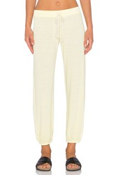 Nation Ltd. Medora Capri Sweatpant Yellow