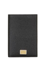 Dolce And Gabbana Dauphine Leather Passport Case