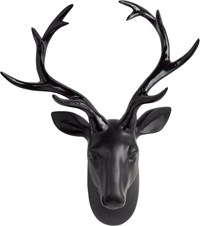 Cb2 Clarke The Wall Hanging Black Stag