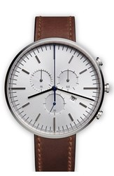 Uniform Wares Chronograph Leather Strap Watch 42Mm