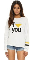 Freecity I Love You Raglan Sweatshirt Gesso